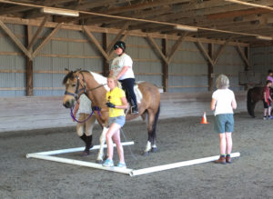 photo of Adaptive riding lesson