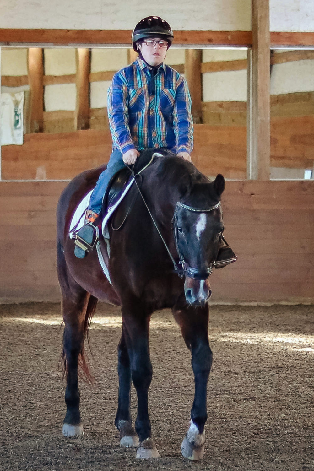 photo of Hunter riding Zoe